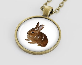 Rabbit  necklace Rabbit pendant Rabbit jewelry for kids Animal Rabbit for children bunny necklace bunny jewelry art by Nataly Novosad