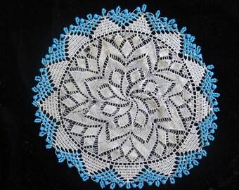Crochet Milk Jug Cover//Beaded Milk Jug Cover//Beaded Doily