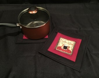Hot Beverage Quilted, Insulated Pot Holder Set