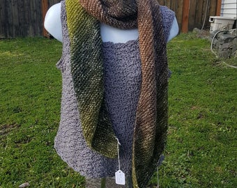 Super soft knit scarf, wrap scarf holiday gift, woman scarf, scarves and wraps, metallic thread, graceful green