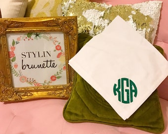 Set of 4 Monogram Dinner Napkins