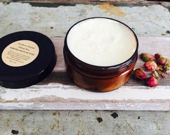 Body Butter. Whipped Body Cream. Rose Geranium Blend. Luxurious. All-Natural Skin Moisturizer. Plant-Based Vegan Skincare. 100g / 3.5oz