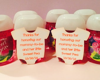 Baby shower favor tags set of 18