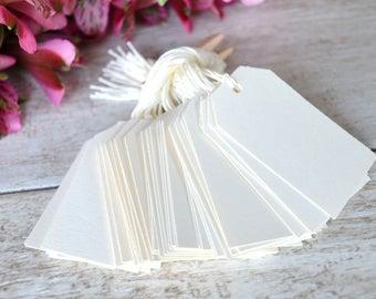 cream bulk hang tags with string, cream bulk price tags, cream bulk parcel favor tags, ivory bulk price tags, cream bulk gift tags- 50 tags