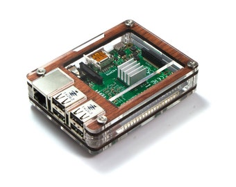 Zebra Case - Raspberry Pi3, 2 and B+ (Wood) with Heatsinks