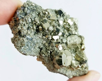 """Pyrite """"Fool's Gold"""", Huanzala Mine, Peru - 62mm x 35mm x 25mm"""