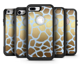 Gold Flaked Animal Light Blue - OtterBox Case Skin-Kit for the iPhone, Galaxy & More