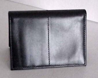 New Vintage Kenneth Cole Reaction Smooth Black Wallet-Card Holder Tri-fold