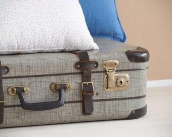 Vintage Suitcase, Box Mid-Century