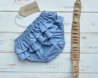 Baby Bloomers, Blue Colour, Cotton