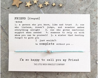 FRIENDS Wish Bracelet Friendship, Best Friends Add a Name & Custom options available