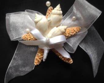 Beach Wedding Accessory - StarFish Wrist Corsage - FREE SHIPPING