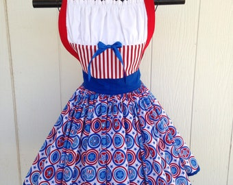 Captain america inspired apron