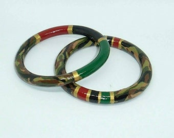 Plus Sized Bangles- RBG Fatigues