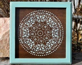 Rustic wall decor Mandala home decor HD113