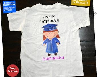 Pre k graduation shirt, boy or girl pre k shirt, fun shirt to celebrate