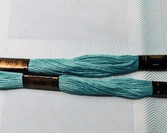 2 Skeins DMC #959 Embroidery Floss Made in France
