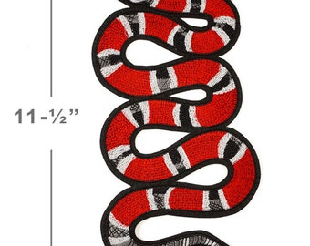 Snake Embroidered Iron-On Applique Patch, Embroidery Patch by 1 pc, 11-1/2'', TR-11295