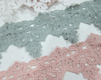 1 Yard- Cotton Venice Lace/NV235-Embroided Venice Lace/ Exquisite Venice Lace/