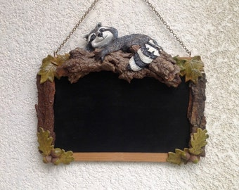 Raccoon blackboard