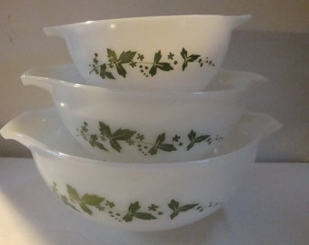 FREE SHIPPING Pyrex JAJ Hawthorne New In The Box!