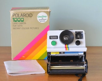 Vintage Polaroid 1000 Land Camera box & instructions No 766
