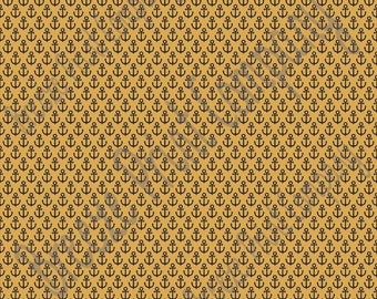 Gold with black anchor craft  vinyl sheet - HTV or Adhesive Vinyl -  nautical pattern HTV3300