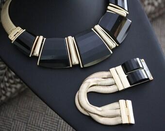 Remarkably tailored Vintage Anne Klein Choker and Bracelet