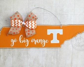 READY TO SHIP- Tennessee Vols Door Hanger