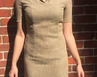 Beige 80s mini dress