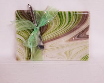 Fused Glass Cheese Board