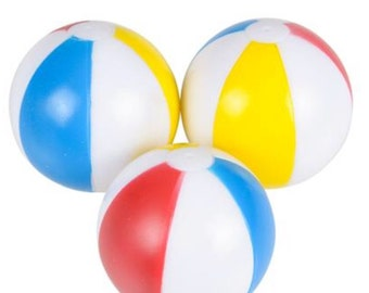 Beach Ball party favors (4) party favors/cupcake toppers, party supplies, beach, beach ball, squirt toys, ball