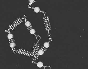 Sterling Silver Bracelet with Pearls
