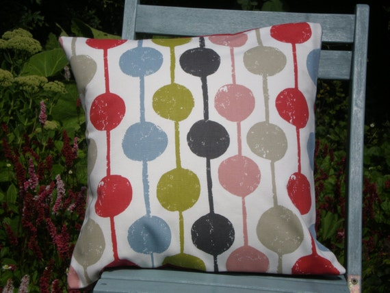 Harlequin  Fabric Cushion Cover - 'Taimi' Scandi Circle Design Poppy