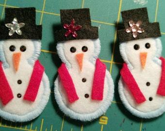 Frosty Snowman ID Badge Holder Reel Clip