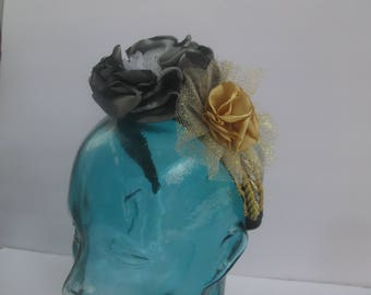 FANCY FLORAL HEADBAND, dressy headwear, formal headband, flowered headband, bling headband, mothers day, dressy headband, party headband