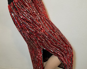 FREE  SHIPPING  Sequin  Maxi  Skirt