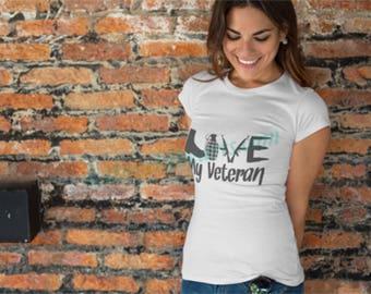 I love my Veteran T shirt Women's