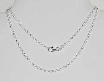 Sterling Silver-Filled Rolo Chain