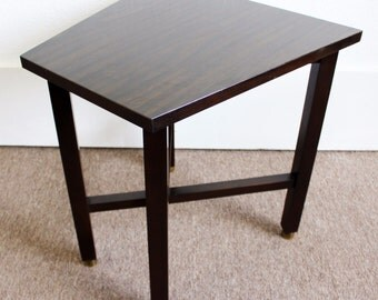 Mid Century Modern Wormley for Dunbar Trapezoid Side End Table