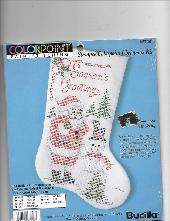 Puppy Bows ~ craft items Christmas paint stitching art kit colorpoint sticking santa claus