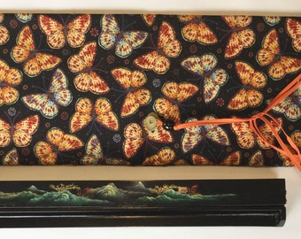 LARGE Mahjong Rack Bag ~ draw-string ~ cotton shell and satin lining