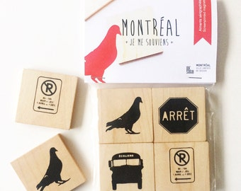 Montreal - Wooden Magnets
