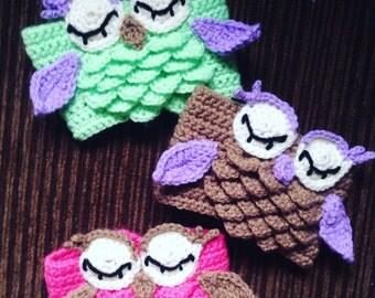 Crochet Owl Cup Cozy