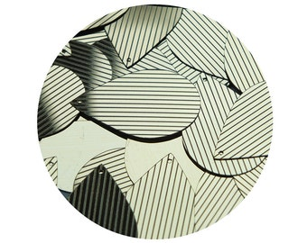 Sequin Teardrop 1.5 inch Gold Black Pinstripe Metallic Couture Paillettes