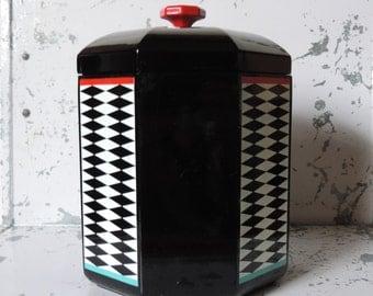 Vintage Georges Briard Ice Bucket Designer Barware Memphis Sottsass Era 1980 Free Shipping in USA.