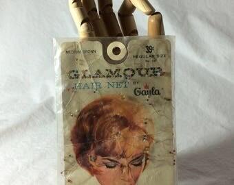 Glamour Hair Net in Medium Brown, Beaded