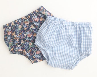 Bloomers in baby blue gingham