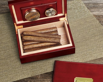 Personalized Cigar Humidor - Custom Engraved Humidor - Cigar Humidor - Gifts for Him - Groomsmen Gifts - Father's Day Gift - GC151