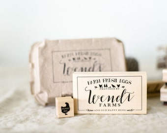 Chicken Stamp Set | Custom Chicken Egg Stamp & Carton Stamp